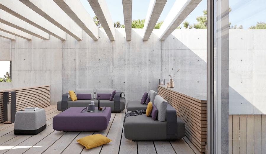Sofa modulaire pour jardin ou intérieur