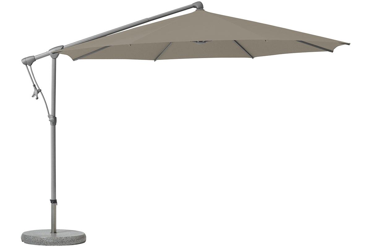 Parasol avec commande à la manivelle pour réglage confortable