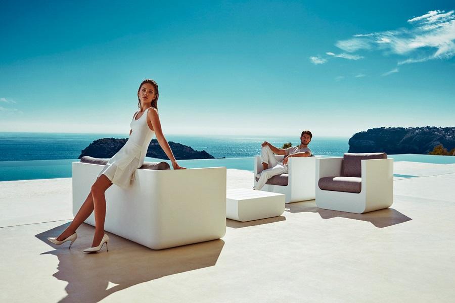 Salon de jardin design blanc by ULM