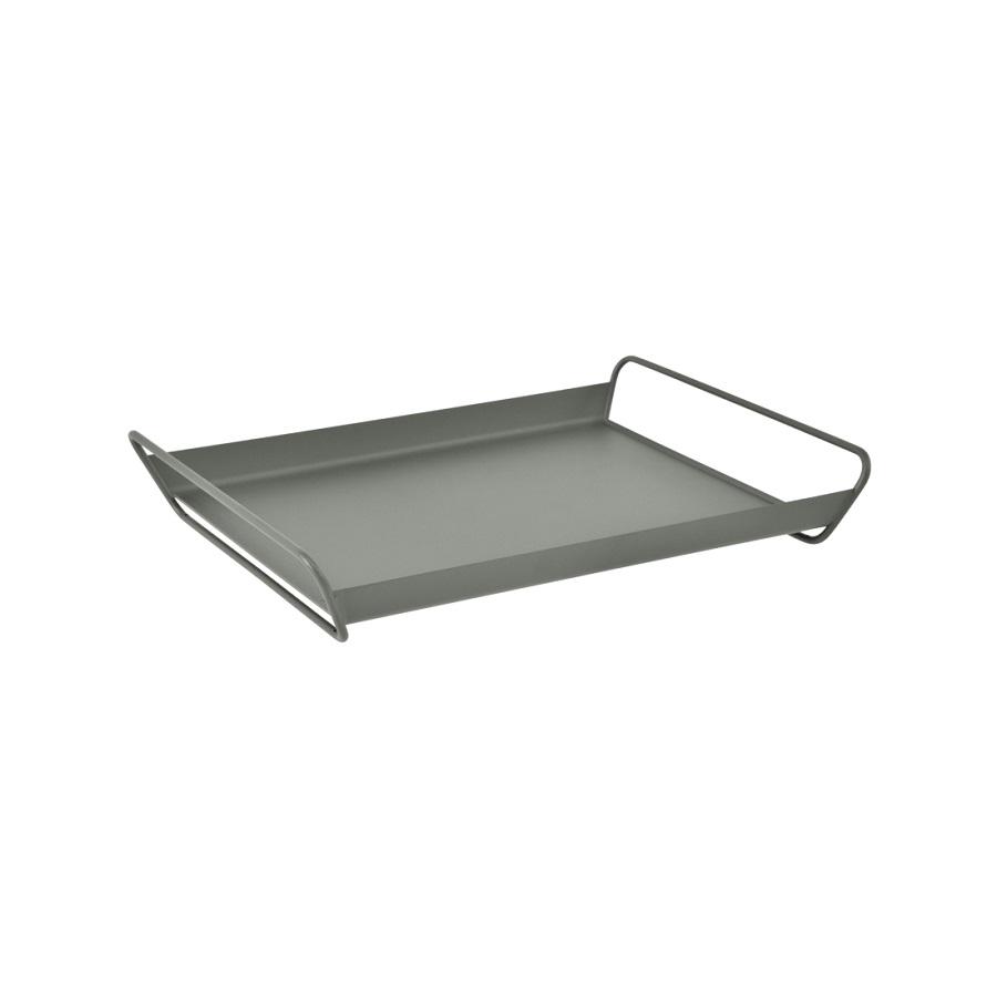 Plateau gris métal